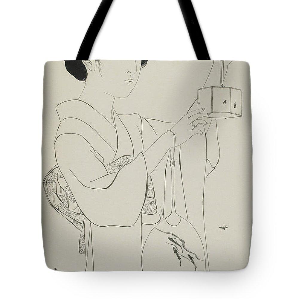 Lady Bug Drawings Tote Bags
