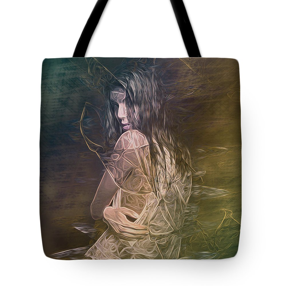 Woman Tote Bag featuring the photograph Woman In Distress by Kuhni Photography