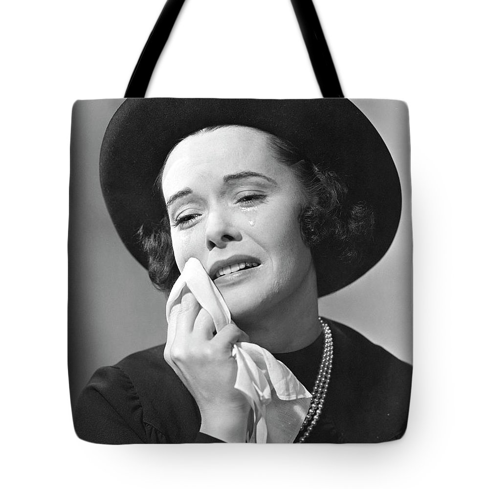 People Tote Bag featuring the photograph Woman Mourning by George Marks