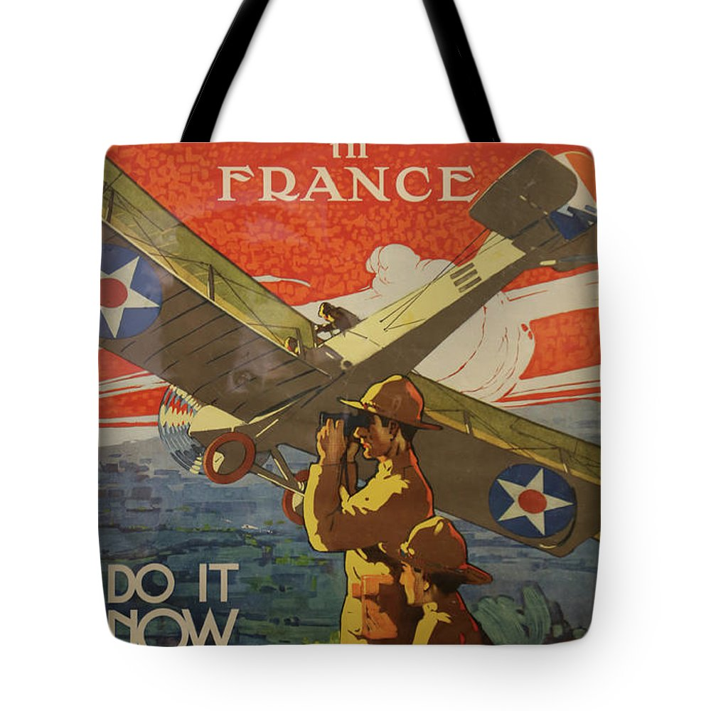 Airplanes Tote Bag featuring the photograph Www1 Join And Serve by Imagery-at- Work
