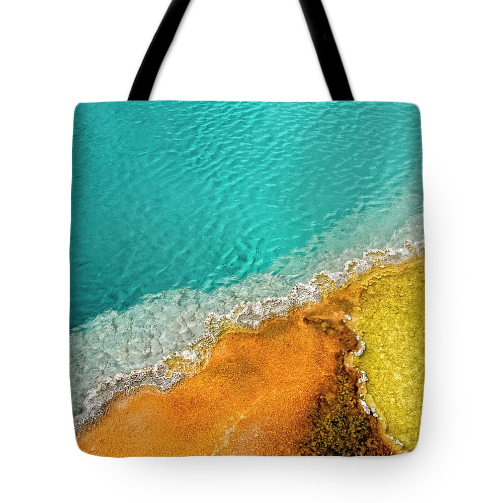Geology Tote Bag featuring the photograph Yellowstone West Thumb Thermal Pool by Bill Wight Ca