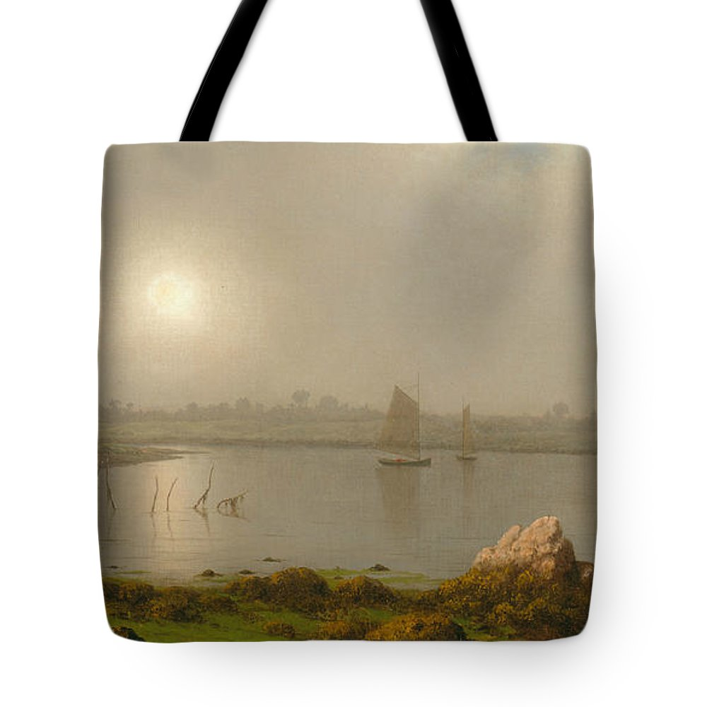 19th Century Art Tote Bag featuring the painting York Harbor, Coast Of Maine by Martin Johnson Heade