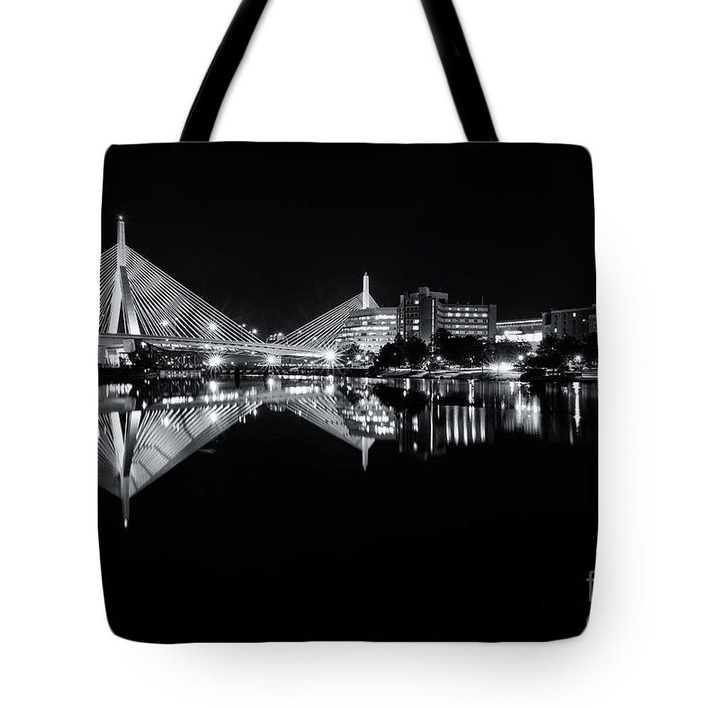 Boston Tote Bag featuring the photograph Zakim Reflections by Jesse MacDonald