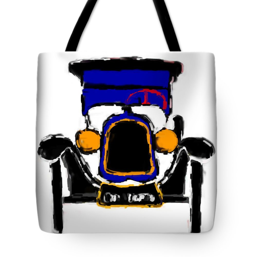 F1 Tote Bag featuring the mixed media F1 by Asbjorn Lonvig