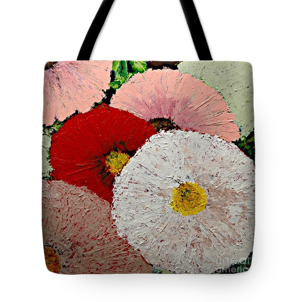 Landscape Tote Bag featuring the painting From the Garden by Allan P Friedlander