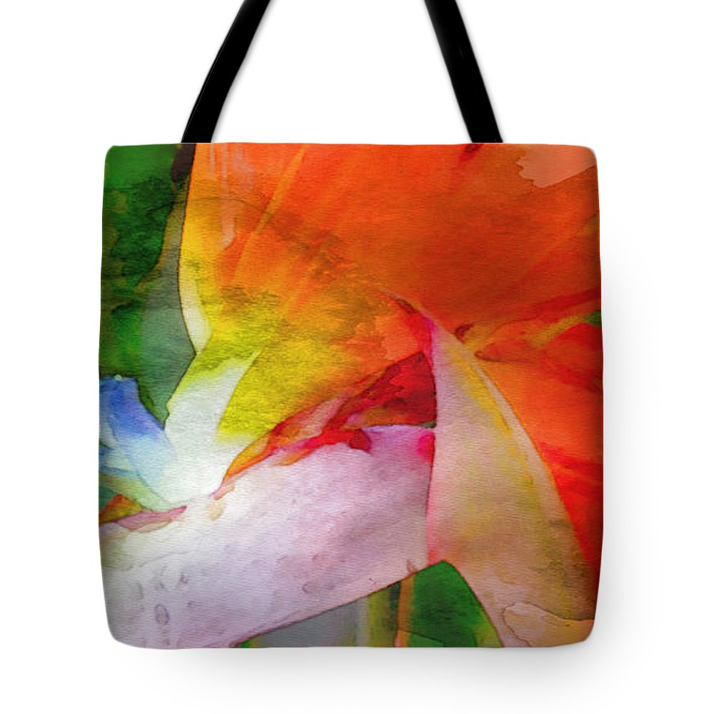 Bird Of Paradise Tote Bag featuring the digital art Hawaiian Bird Of Paradise by James Temple