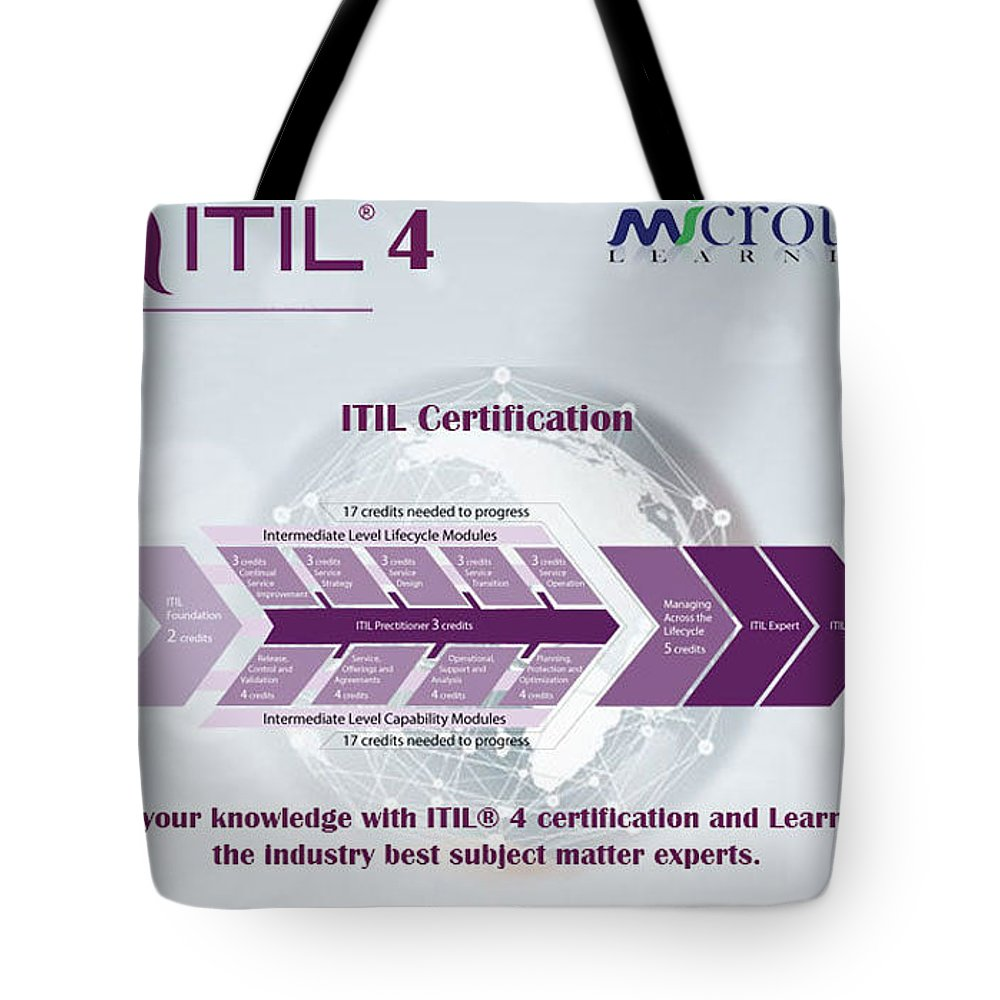 #certification Tote Bag featuring the mixed media Itil Certification by Taylor Stone