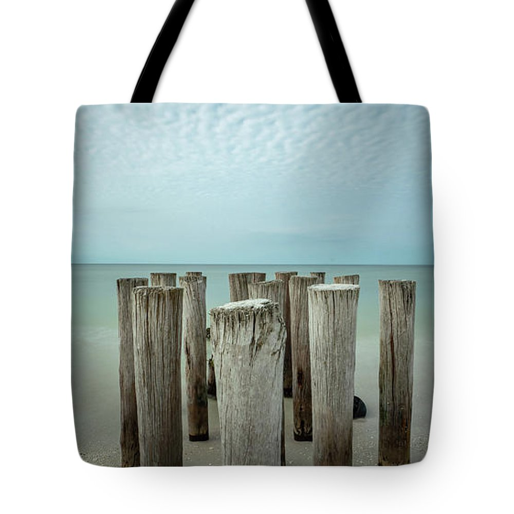 Naples Florida 2021 Tote Bag featuring the photograph Naples Pilings 2021 by Joey Waves