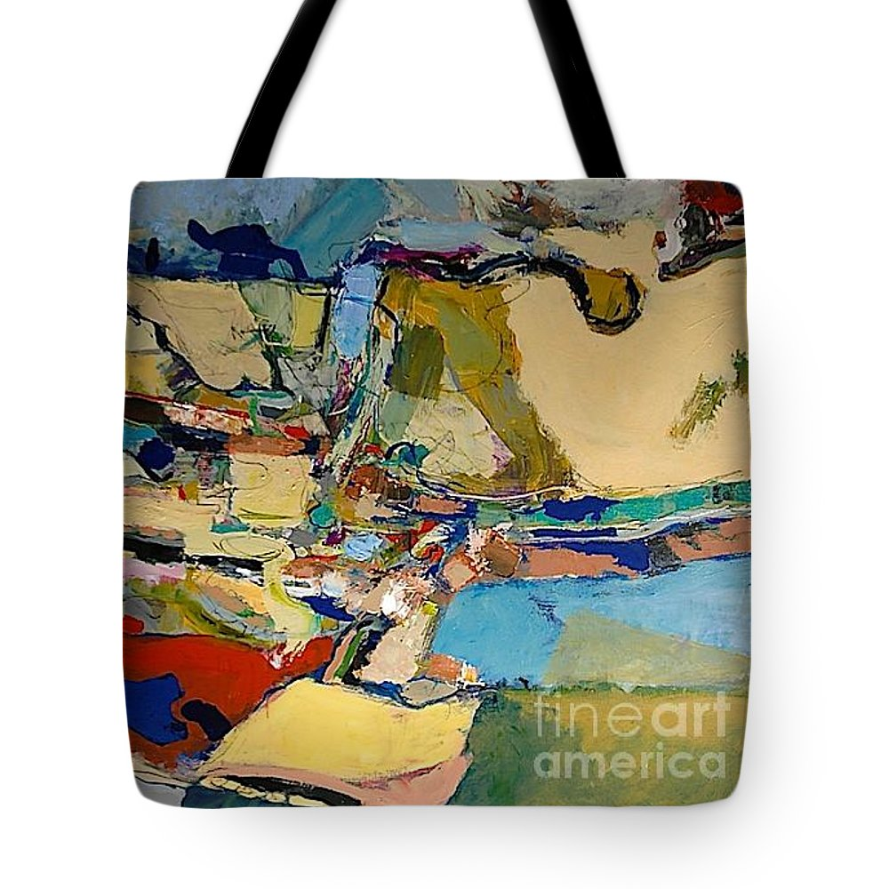 Landscape Tote Bag featuring the painting Pastime Drive by Allan P Friedlander