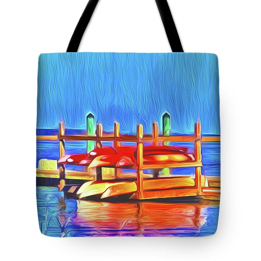 Landscape Tote Bag featuring the digital art Patiently Waiting by Michael Stothard