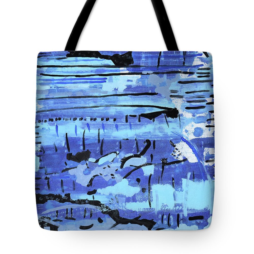 Colorado Tote Bag featuring the painting Something Blue by Pam Roth O'Mara