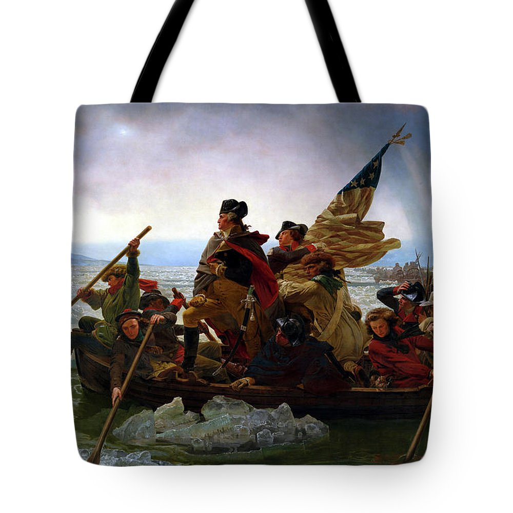 George Washington Tote Bag featuring the painting Washington Crossing the Delaware by Emanuel Leutze