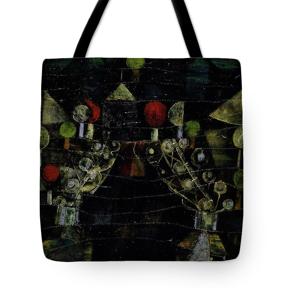 Paul Klee Tote Bag featuring the painting Women's Pavilion by Paul Klee