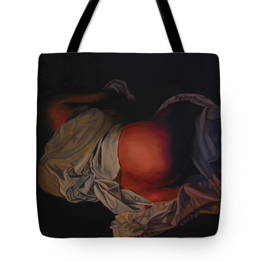 Sexual Tote Bag featuring the painting 12 30 A M by Thu Nguyen