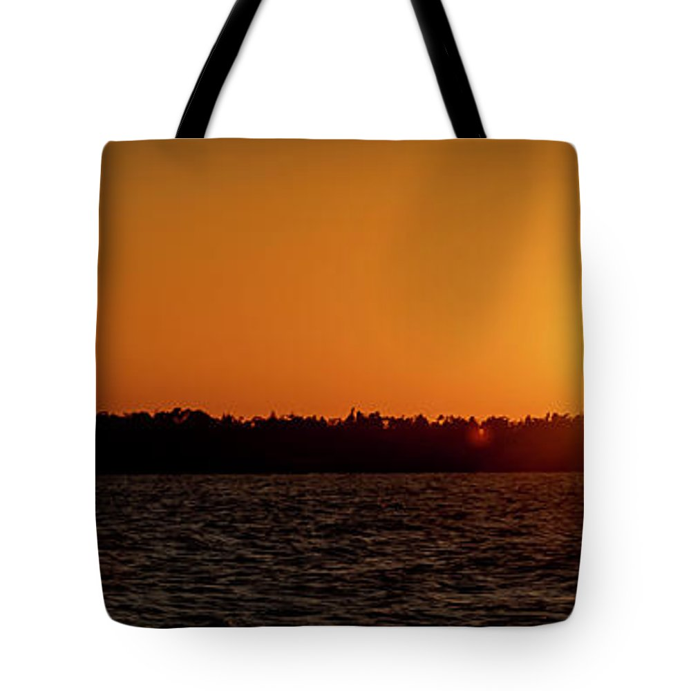 Sunset Tote Bag featuring the photograph 20-0608-0179 Pan by Anthony Roma