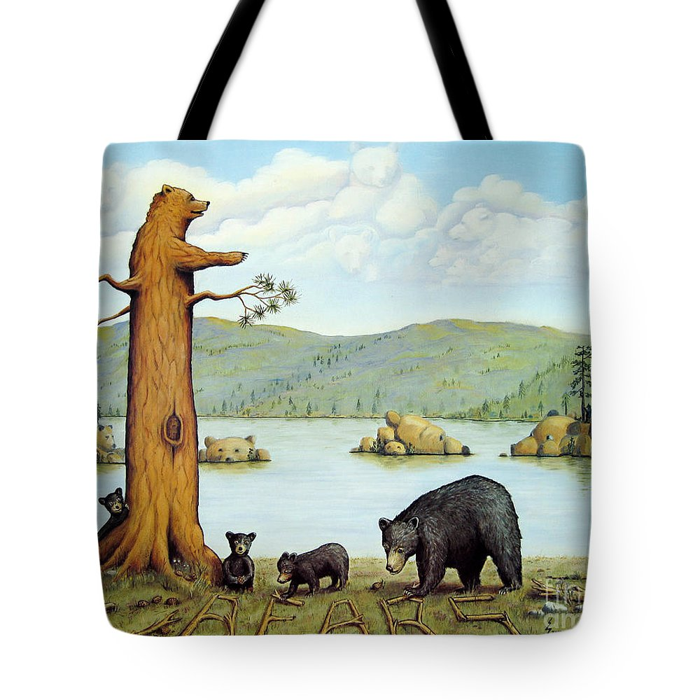 Bears Tote Bag featuring the painting 27 Bears by Jerome Stumphauzer
