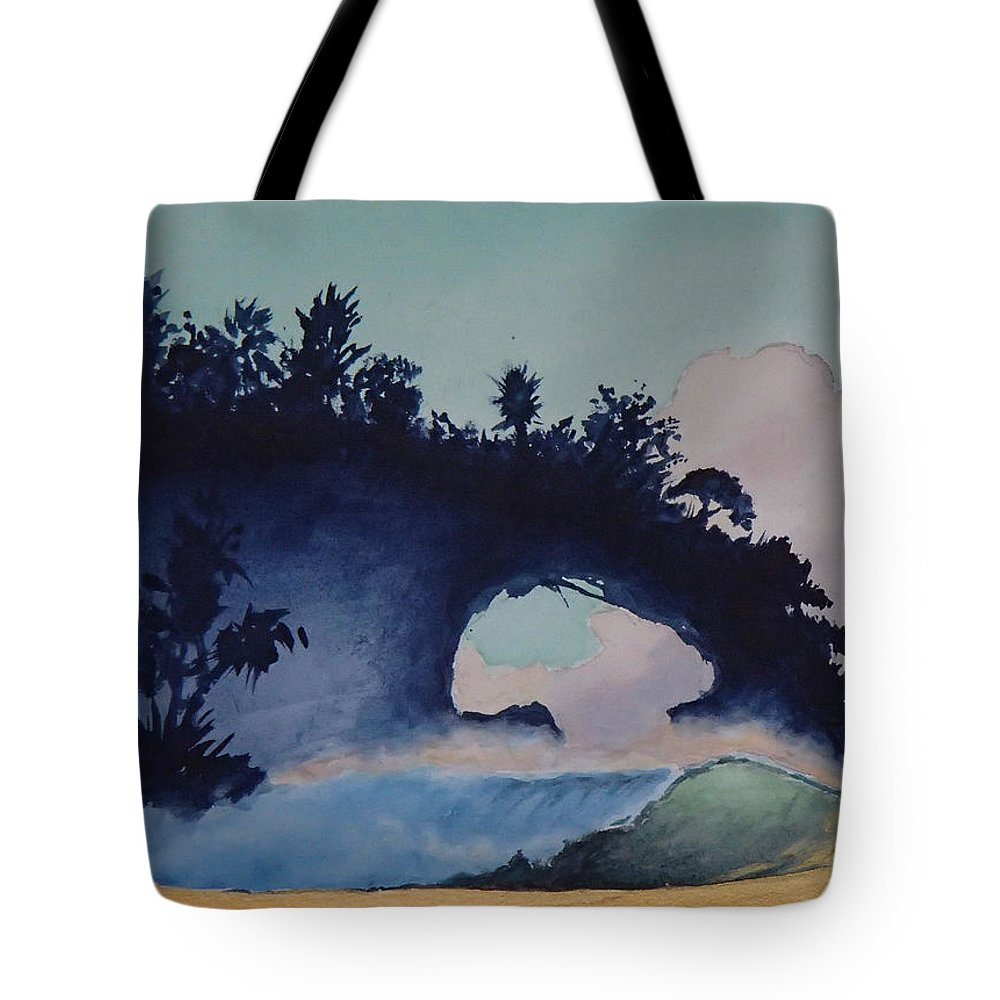 Ocean Tote Bag featuring the painting Untitled 4 by Philip Fleischer