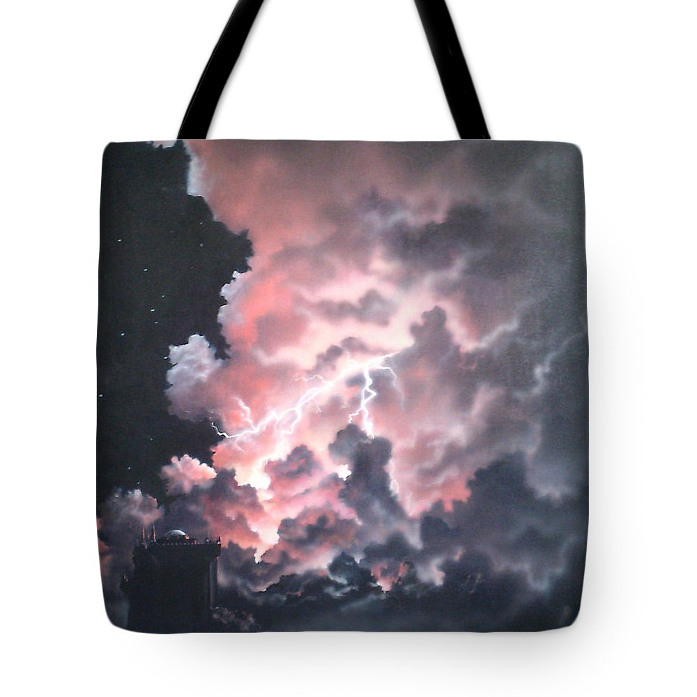 Castle Tote Bag featuring the painting Untitled 6 by Philip Fleischer