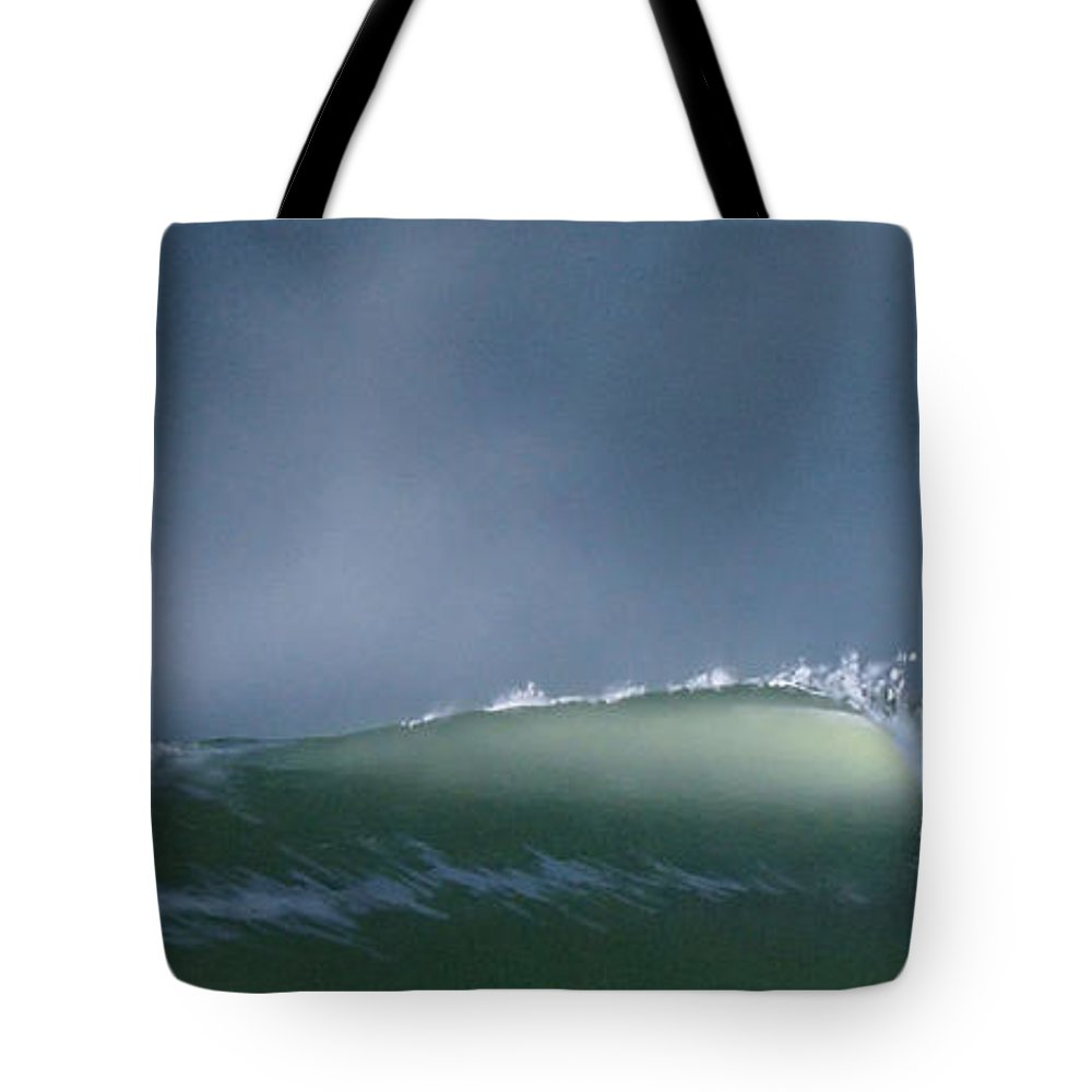 Wave Tote Bag featuring the painting Untitled 7 by Philip Fleischer