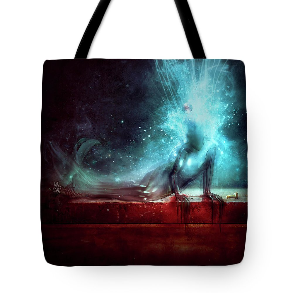 Agony Tote Bag featuring the digital art A Dying Wish by Mario Sanchez Nevado