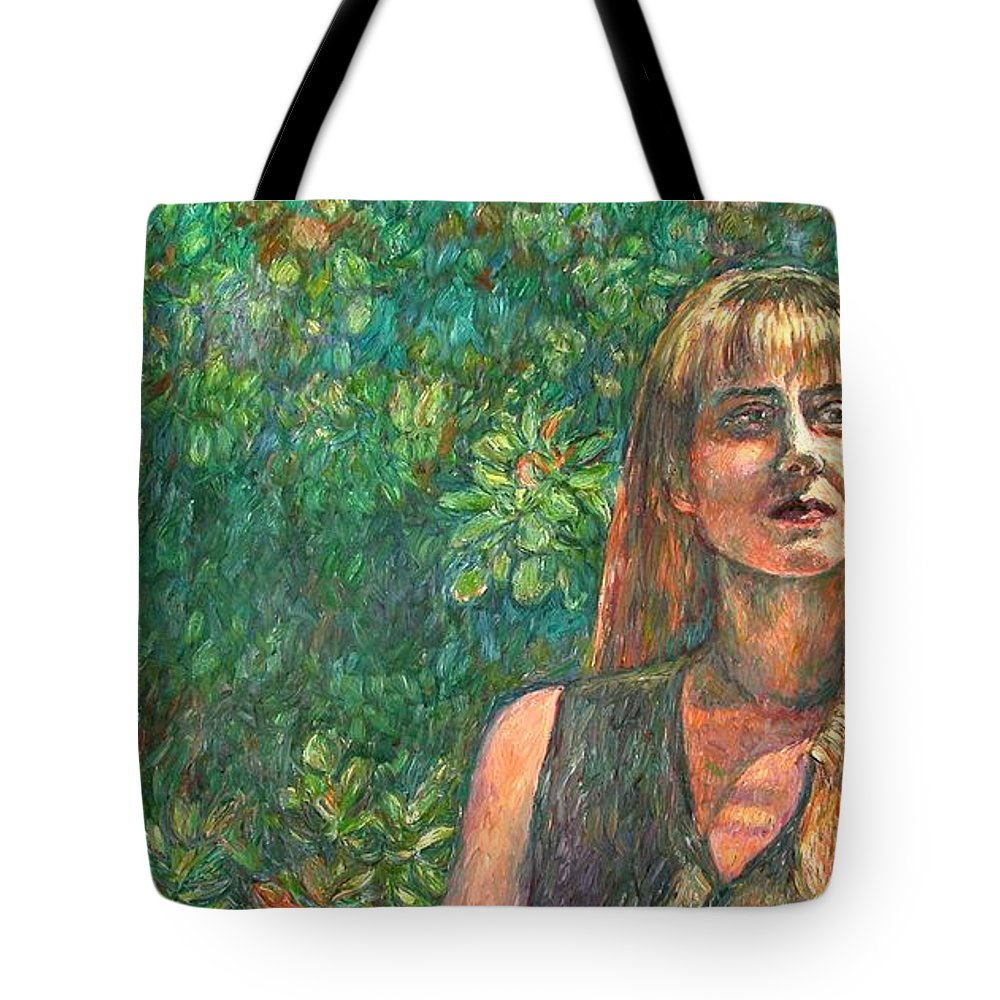 Figure Painting Tote Bag featuring the painting A Skater by Kendall Kessler