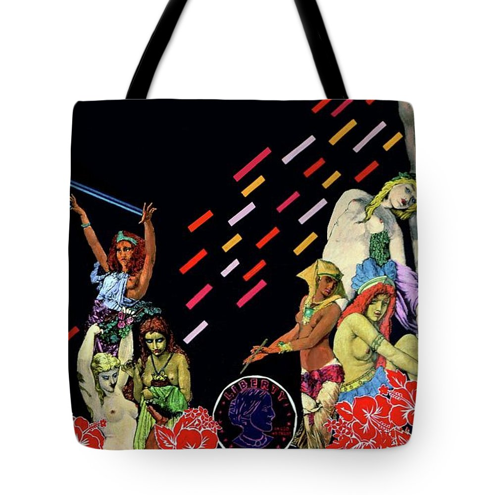 Fabric Tote Bag featuring the digital art A Woman's Dream Of Liberty by David Valentine