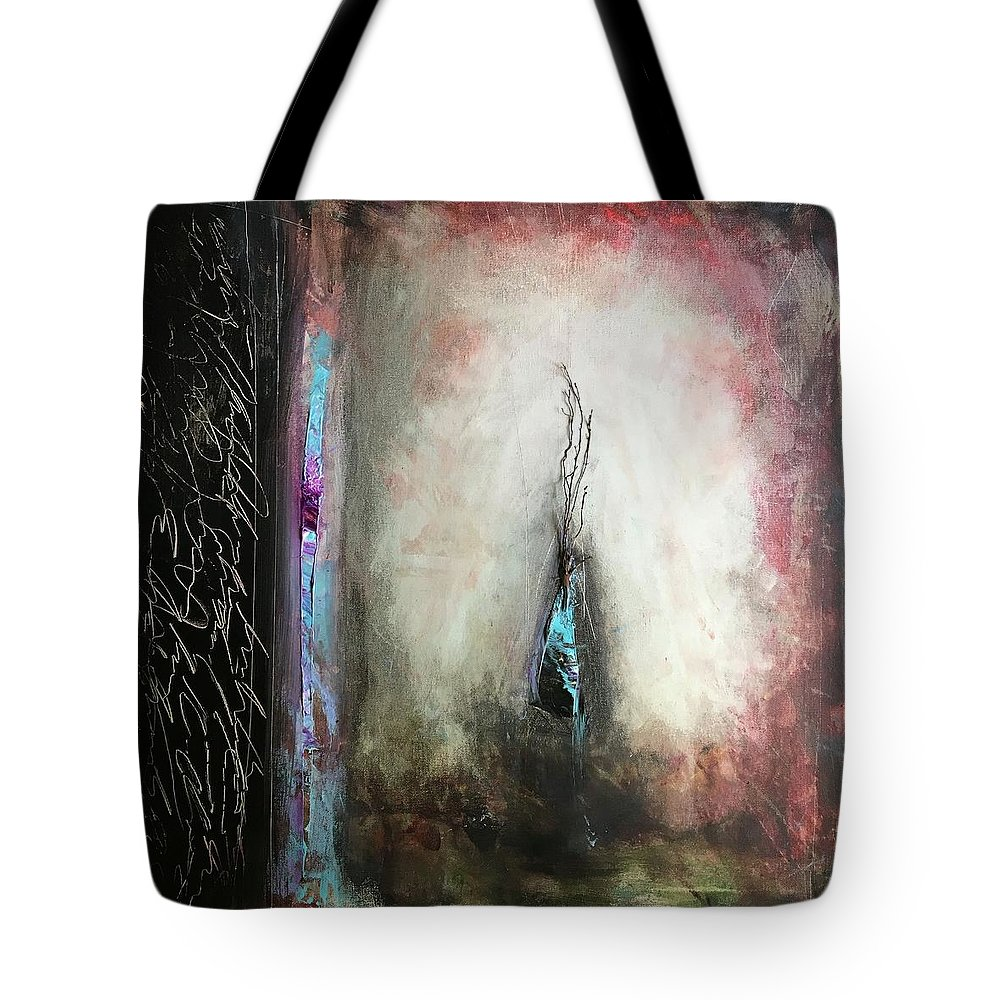 Abstract Art Tote Bag featuring the painting Aberrant Knight by Rodney Frederickson