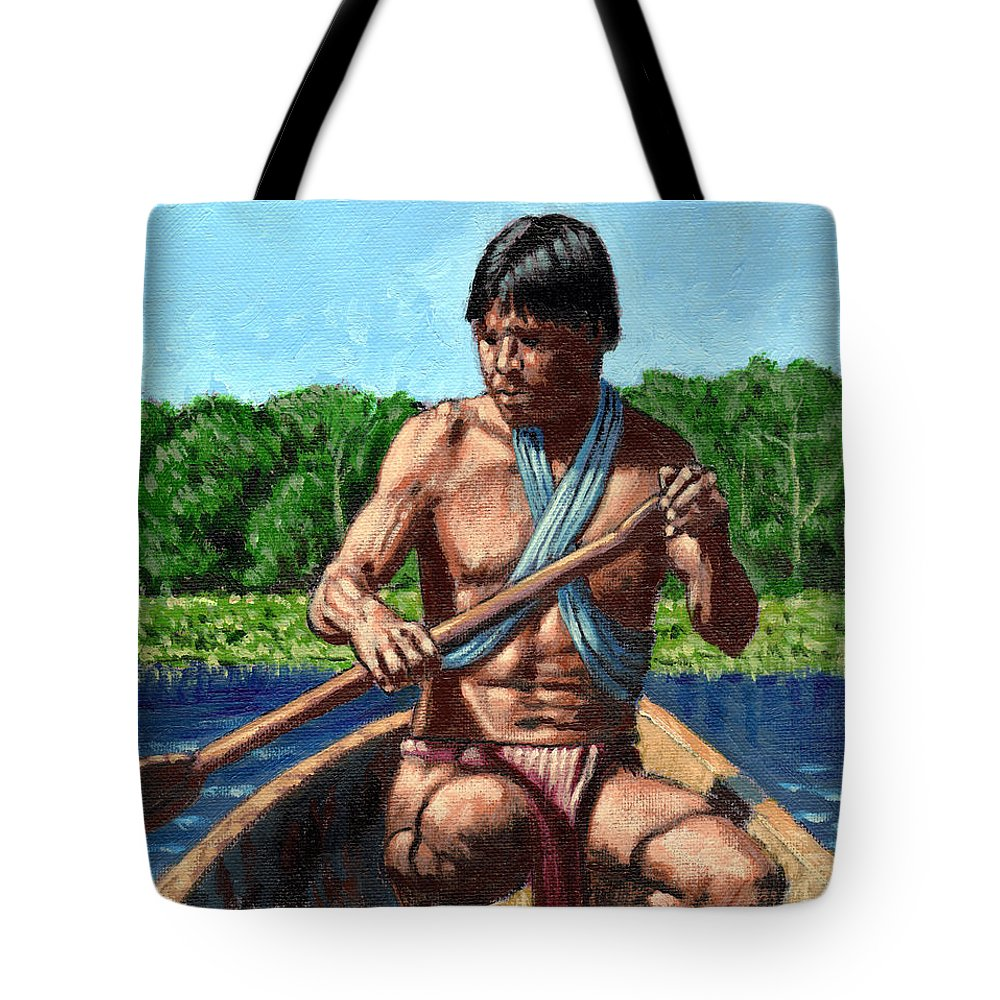 Man Tote Bag featuring the painting Adam by John Lautermilch
