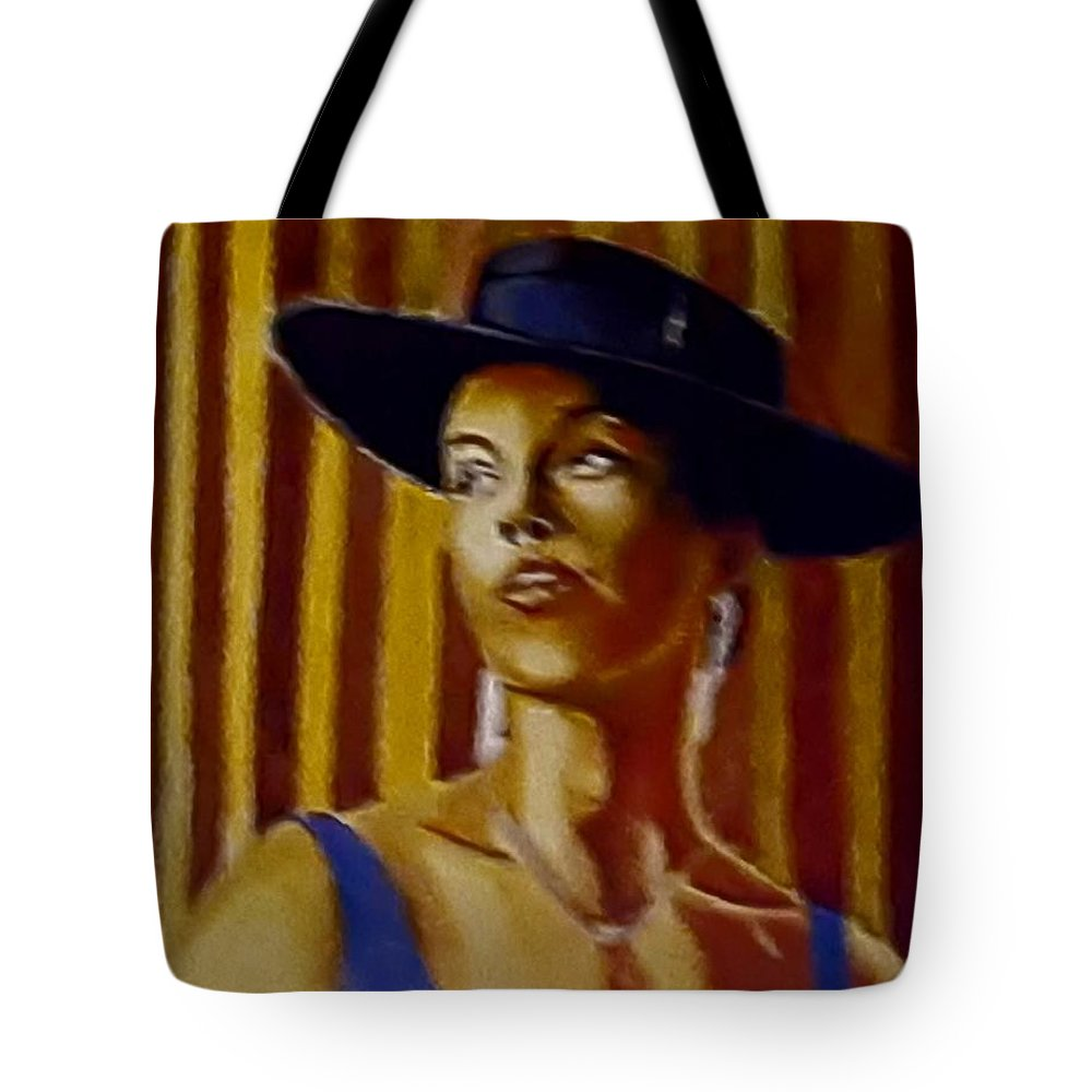 Portrait Tote Bag featuring the painting Alica by Andrew Johnson