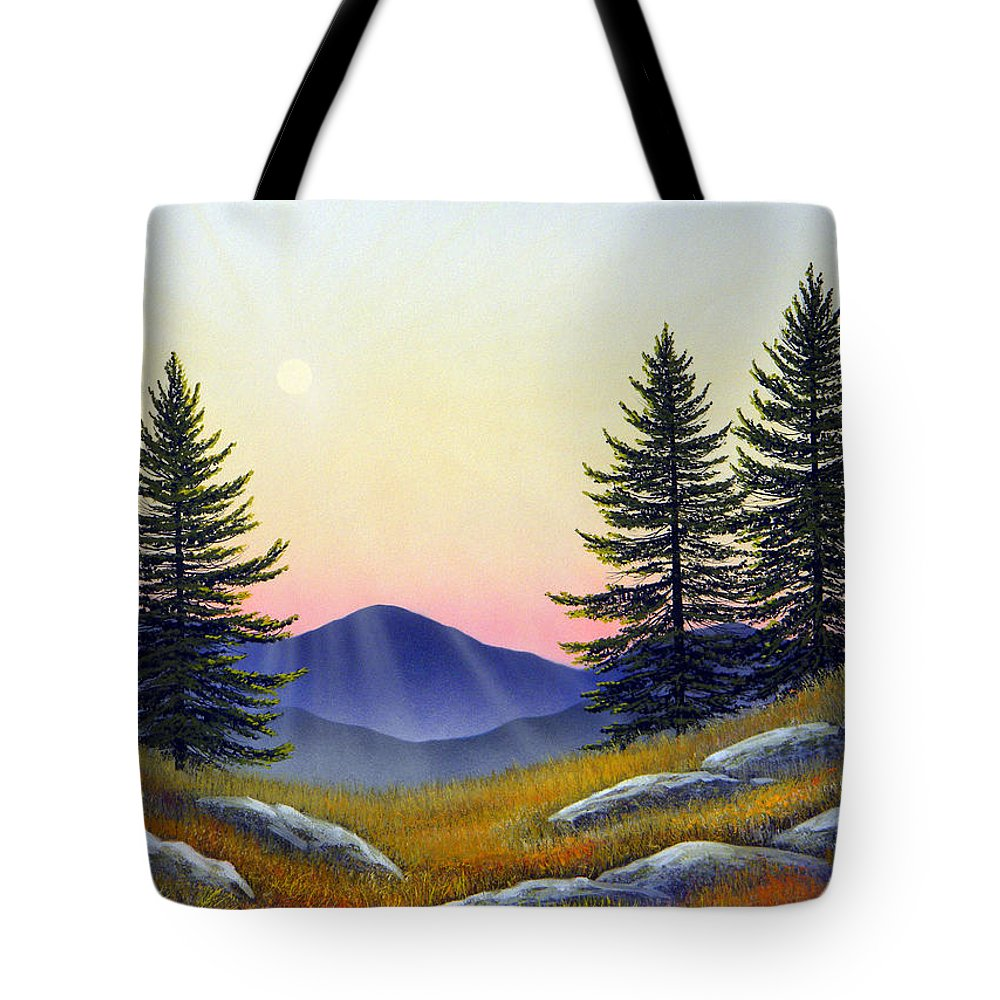 Landscape Tote Bag featuring the painting Alpine Meadow by Frank Wilson