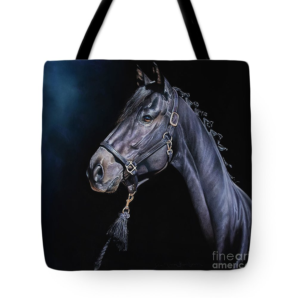 Hunter Tote Bag featuring the pastel Amethyst by Joni Beinborn