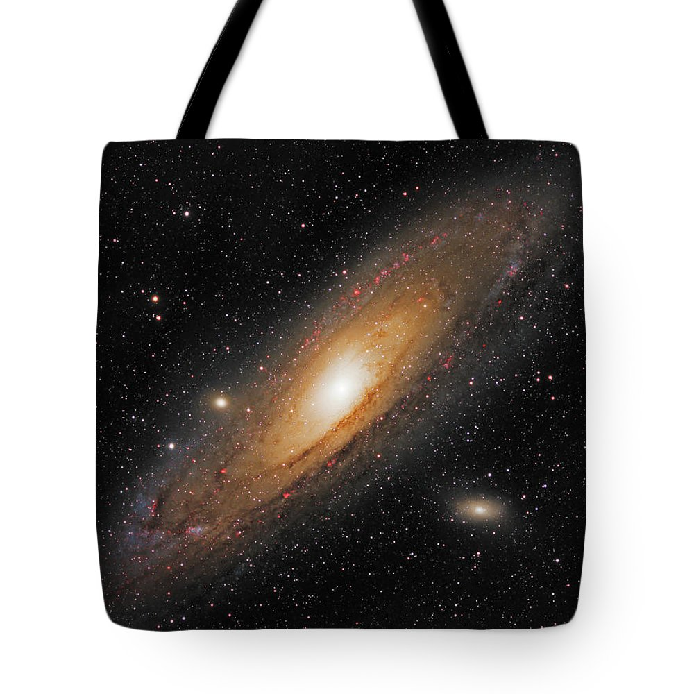 Andromeda Galaxy Tote Bag featuring the photograph Andromeda Galaxy by Prabhu Astrophotography
