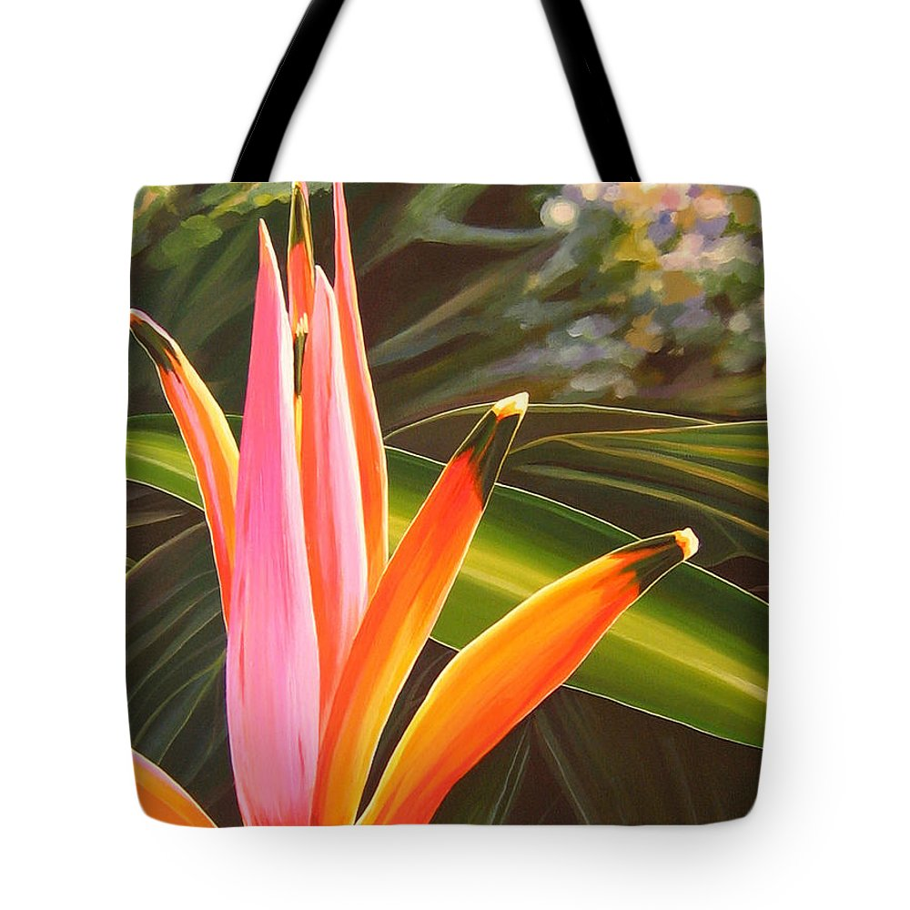 Botanical Tote Bag featuring the painting Another World by Hunter Jay