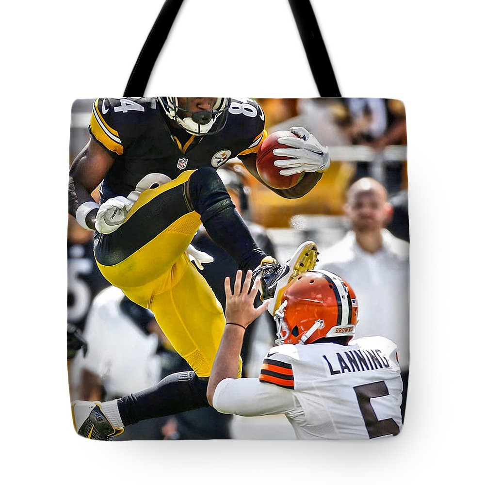 Football Antonio Brown Tote Bags