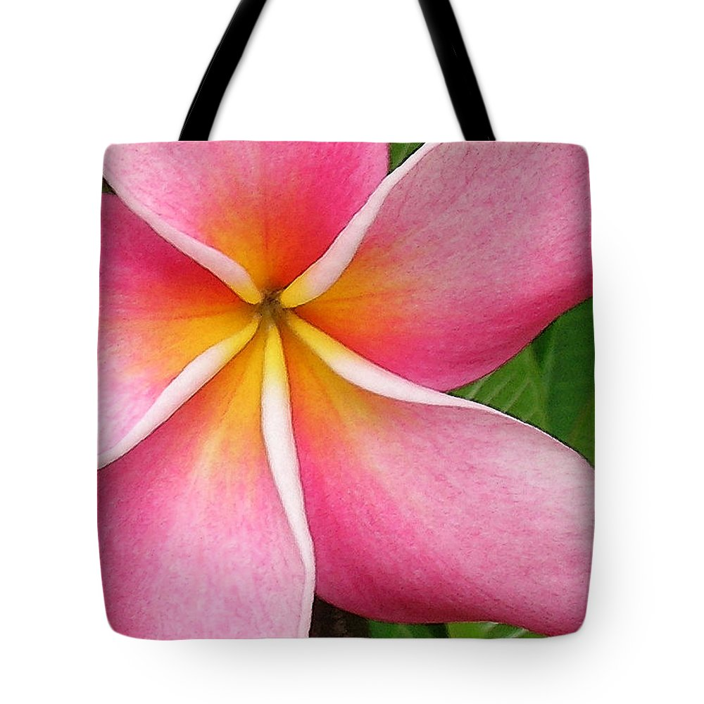 Hawaii Iphone Cases Tote Bag featuring the photograph April Plumeria by James Temple