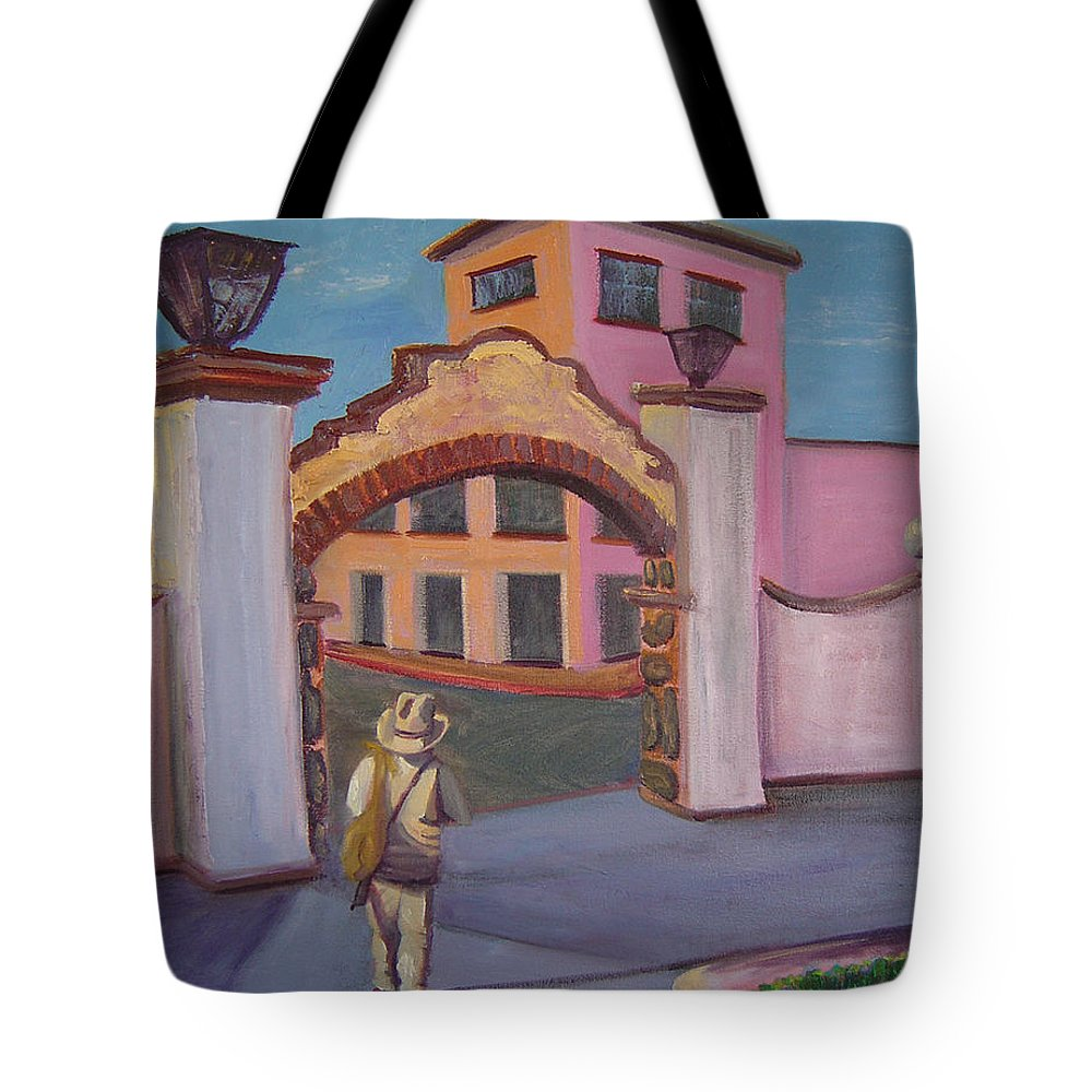 Mexico Tote Bag featuring the painting Arco De Jiutepec by Lilibeth Andre