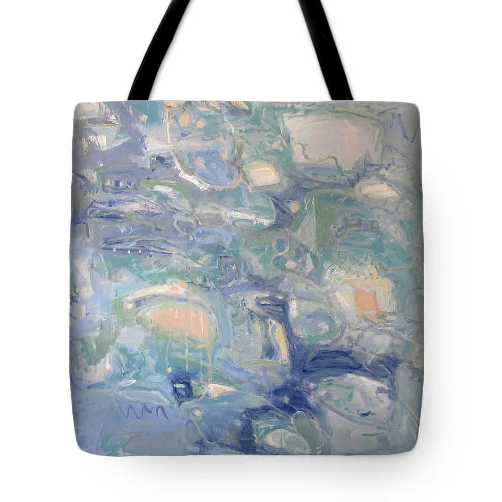 Ariels World Tote Bag featuring the painting Ariels World by Chris Gholson