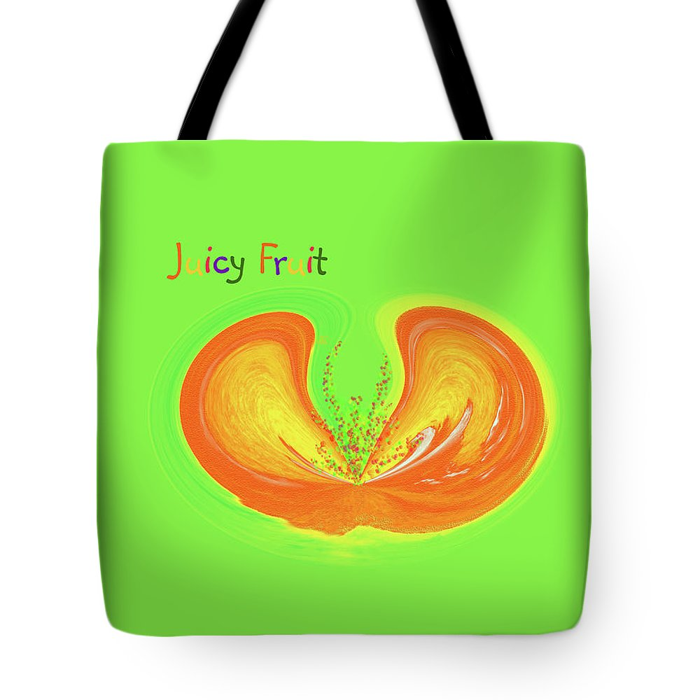 Juicy Fruit Tote Bag featuring the painting Juicy Fruit by Methune Hively