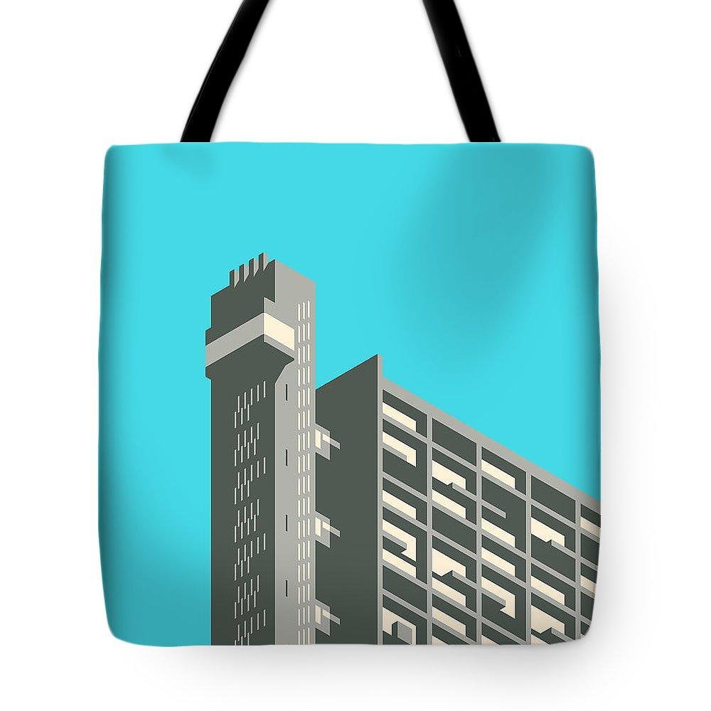 Brutalist Architecture Tote Bags