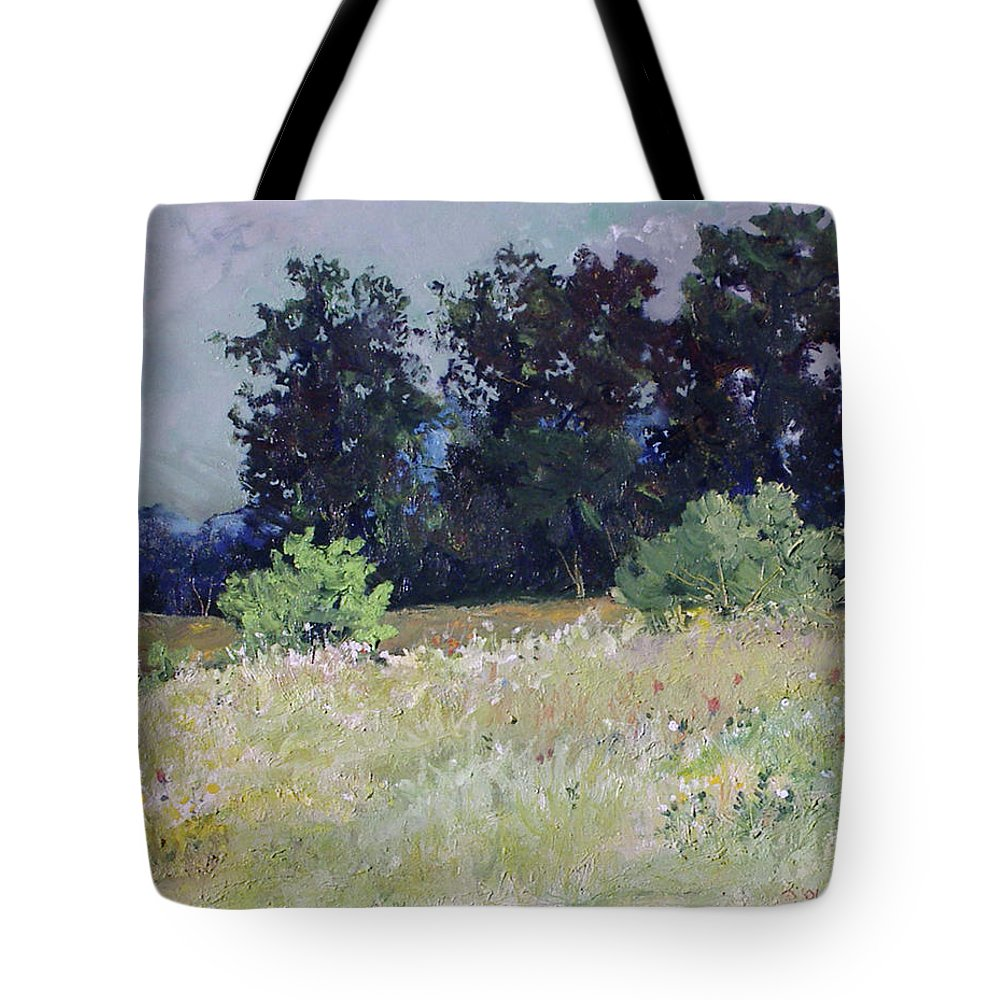 Tote Bag featuring the painting August Original Oil 24x20 by Doug Jerving