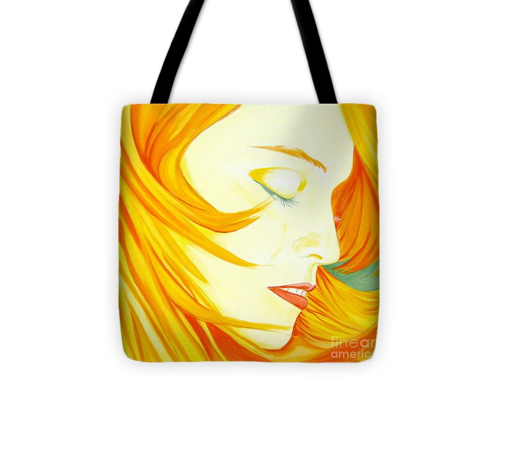 Madonna Tote Bag featuring the painting Aura by Holly Picano