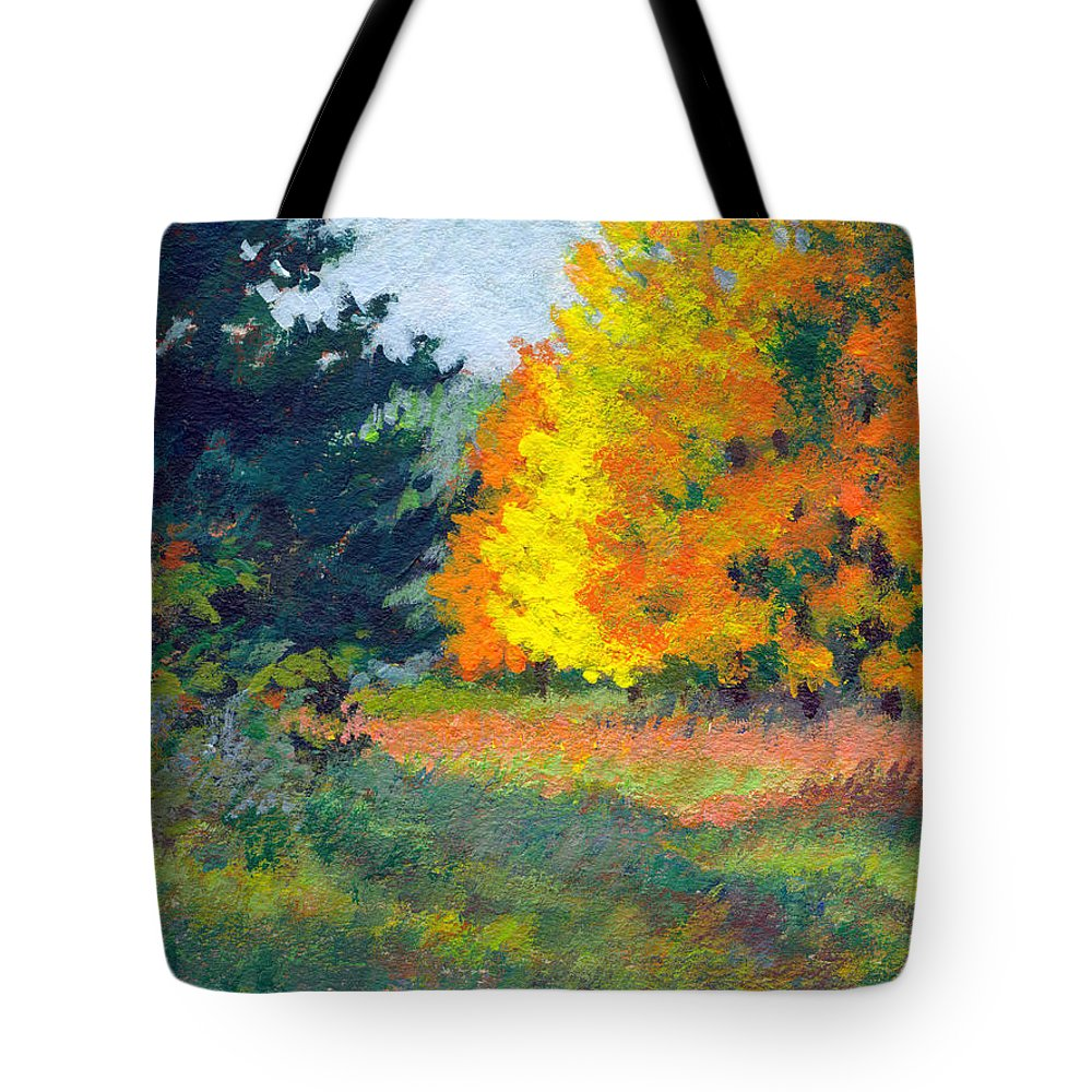 Landscape Tote Bag featuring the painting Autumn Etude by Keith Burgess