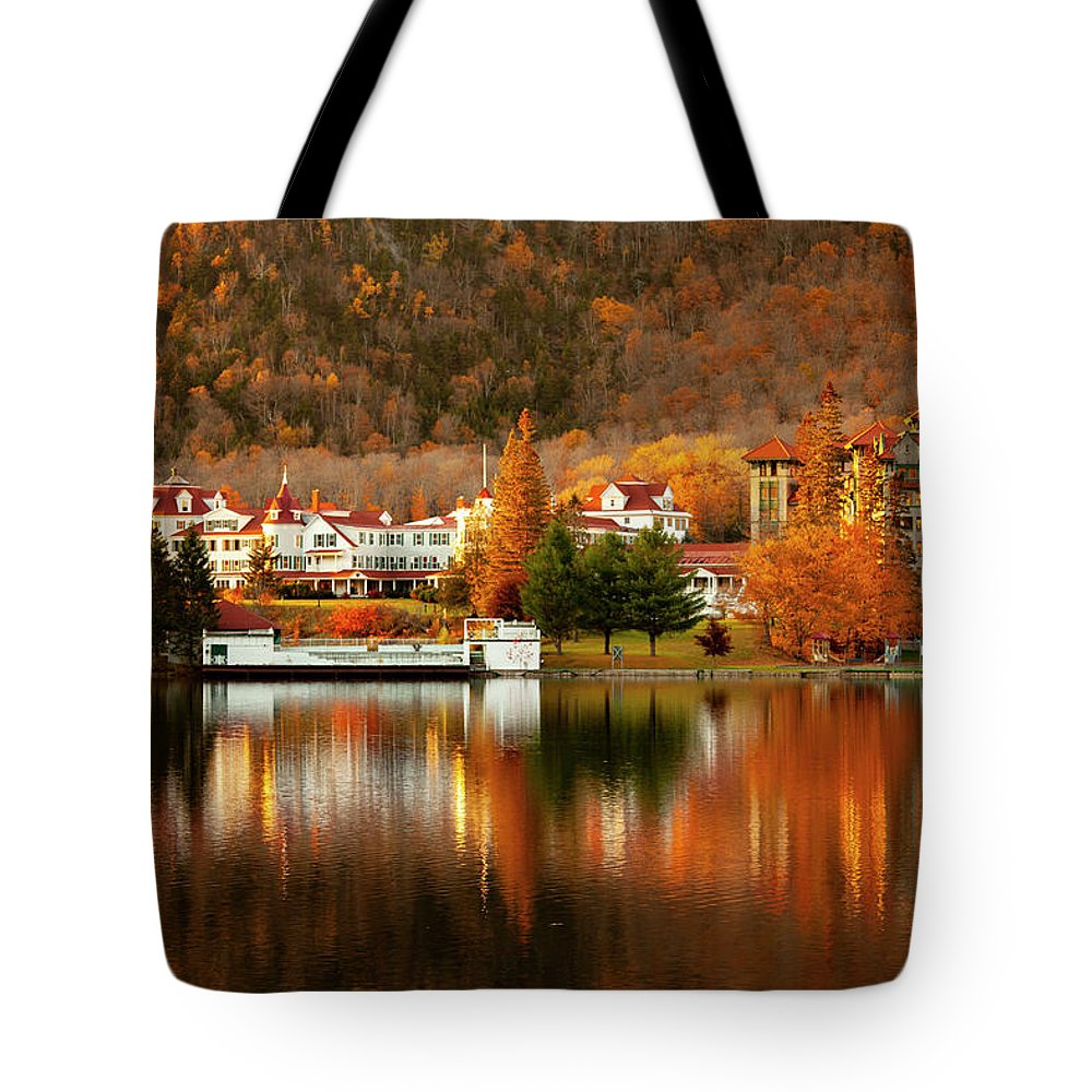 Balsams Resort Tote Bag featuring the photograph Balsams Resort - Dixville Notch, NH by Trevor Slauenwhite