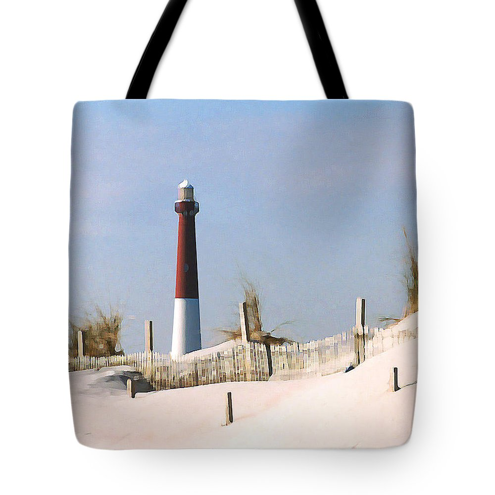 Barnegat Tote Bag featuring the photograph Barnegat Lighthouse by Steve Karol