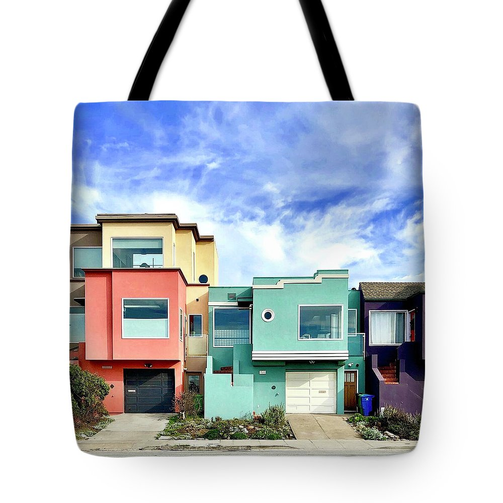 Tote Bag featuring the photograph Beach Houses by Julie Gebhardt