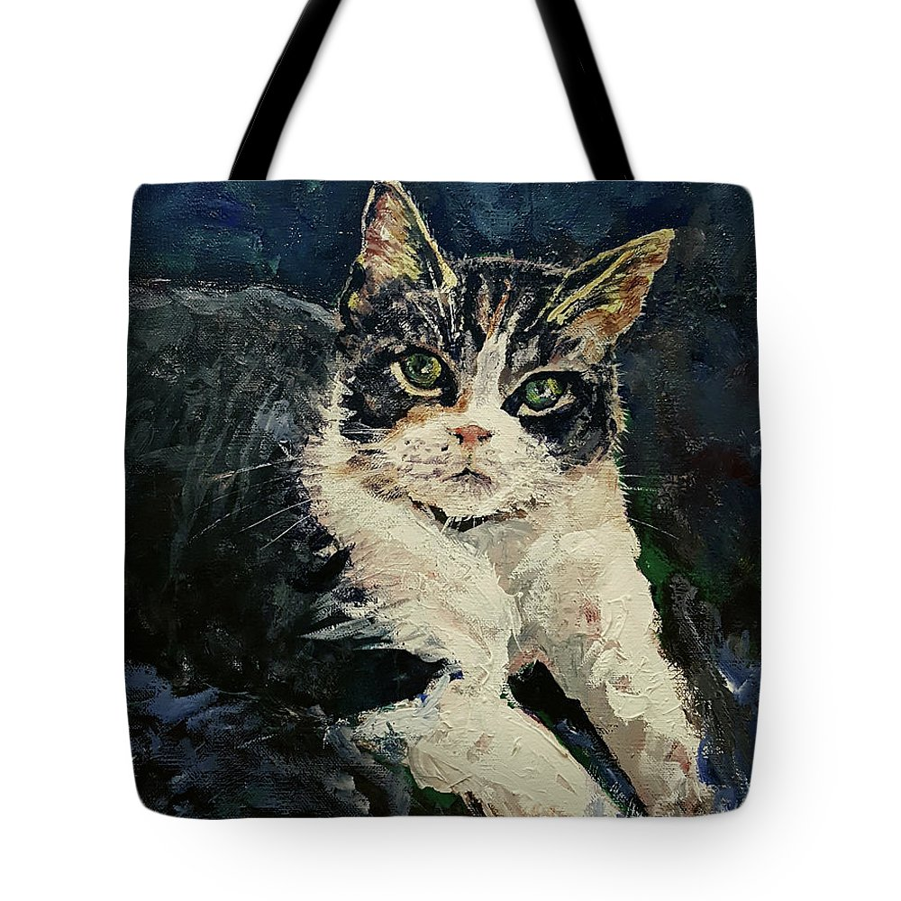 Tote Bag featuring the painting Beautiful Boyd Original Acrylic 11x14 by Doug Jerving