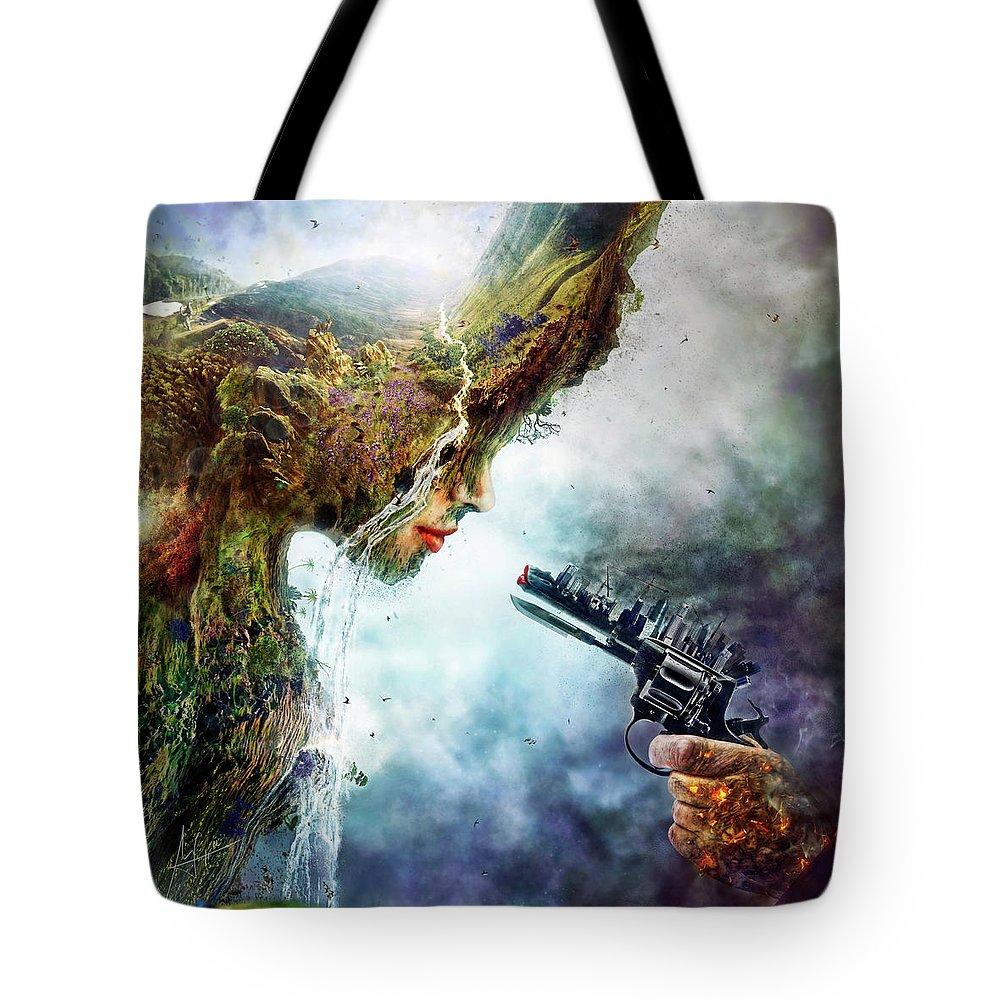 Betrayal Tote Bag featuring the digital art Betrayal by Mario Sanchez Nevado