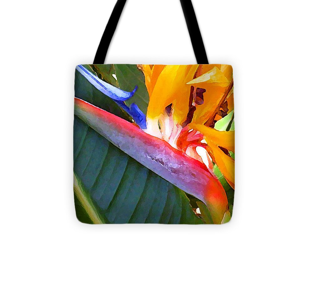 Hawaii Greeting Cards Tote Bag featuring the photograph Bird of Paradise by James Temple