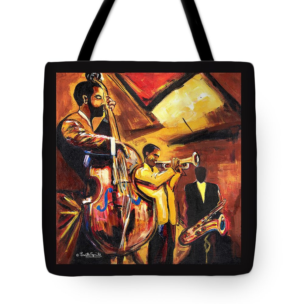 Everett Spruill Tote Bag featuring the painting Birth Of Cool by Everett Spruill
