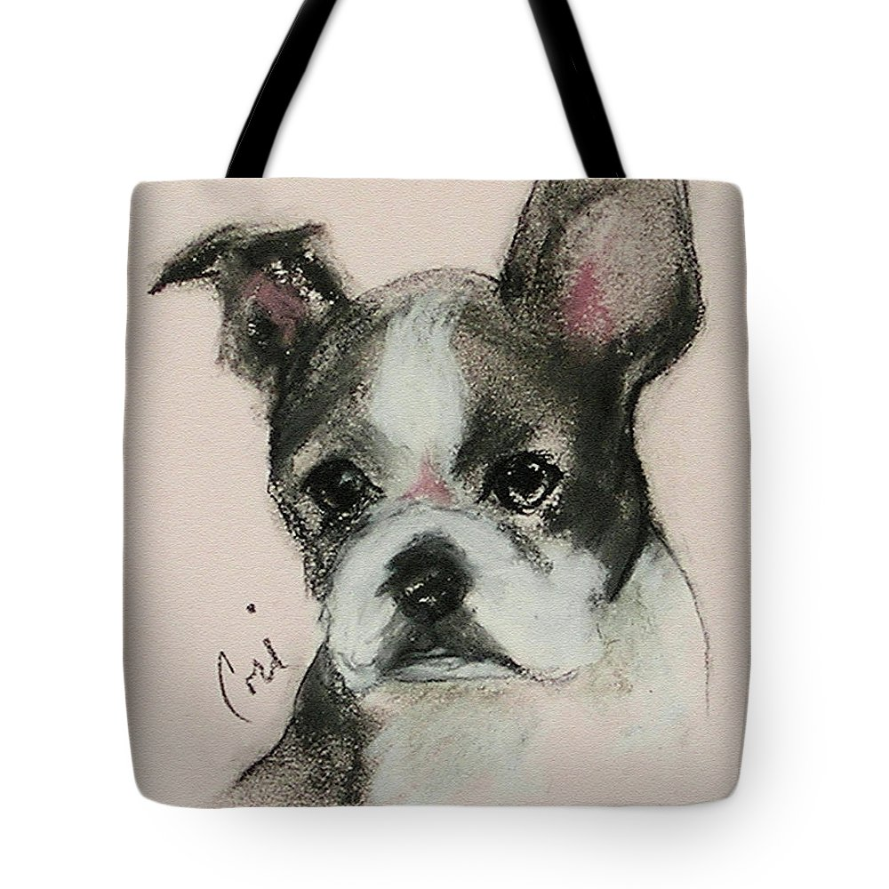 Pastel Tote Bag featuring the drawing Bostonian by Cori Solomon